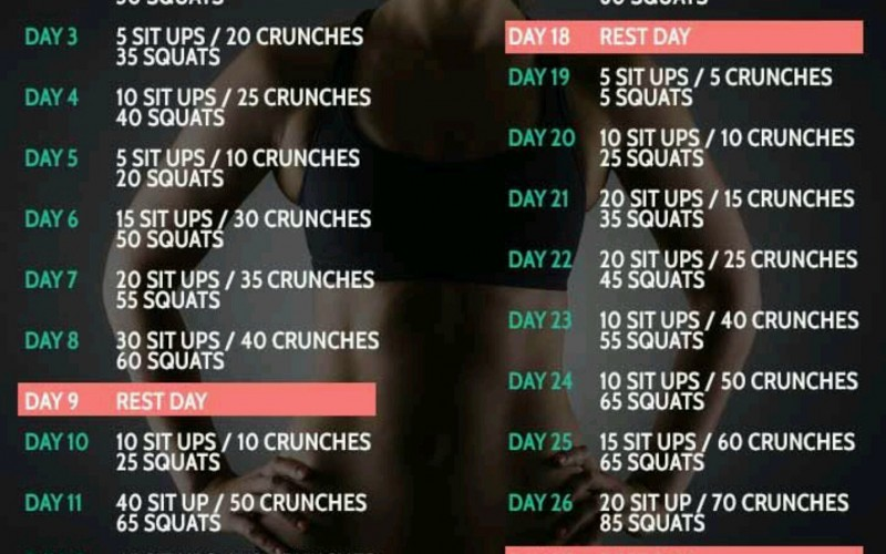 30 Day Ab & Squat Challenge: Day One
